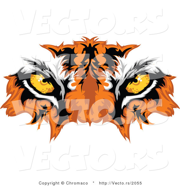 Vector of Intimidating Tiger Eyes - Mascot Design