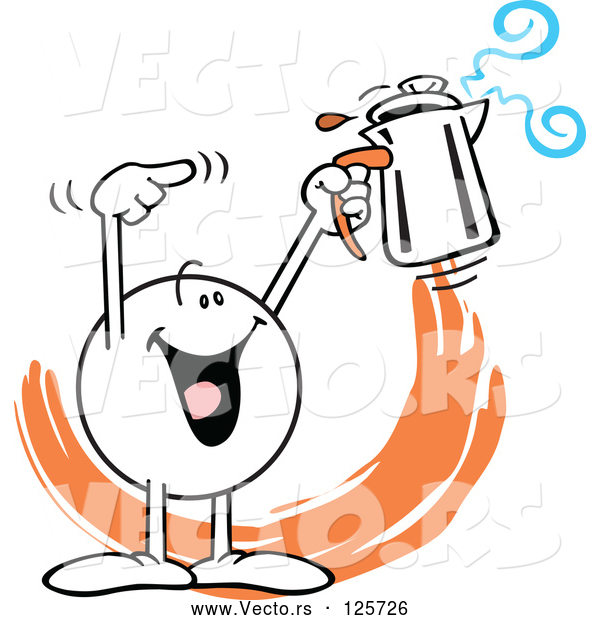 Vector of Moodie Character Holding a Percolator