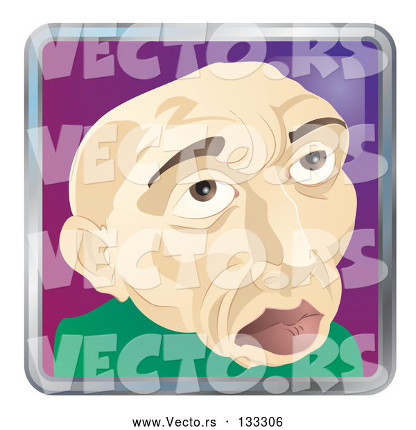 Vector of Old Bald Guy