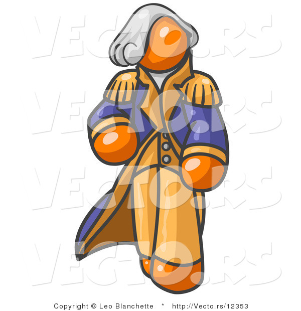 Vector of Orange George Washington