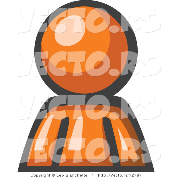 Vector of Orange Guy Avatar Character