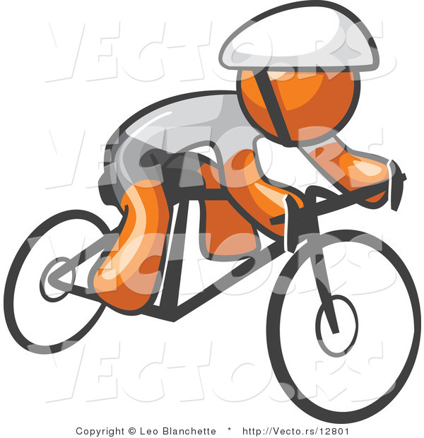 Vector of Orange Guy Cyclist