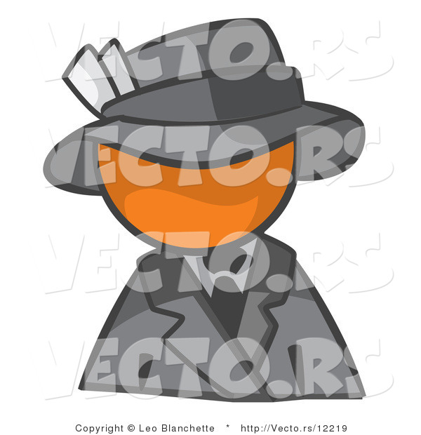 : Vector of Orange Guy Dressed for a Night on the Town