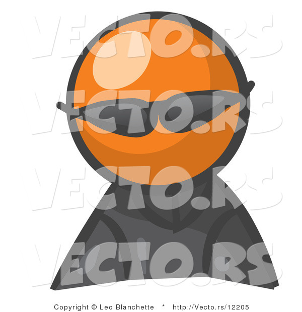 Vector of Orange Guy Spy Wearing Shades