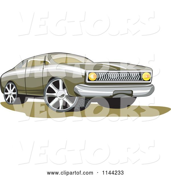 Vector of Retro Ford Fairmont Muscle Car