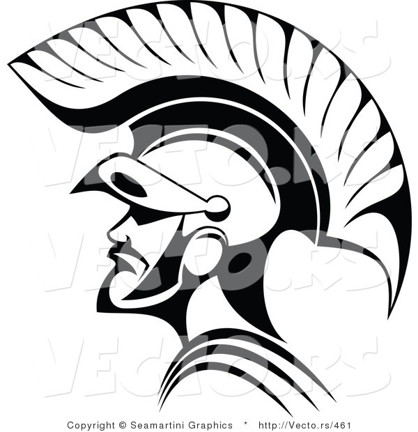 Line Art Resolution : Vector of roman soldier line art by seamartini graphics