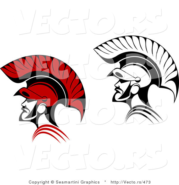 Vector of Roman Soldiers - Color and Black and White Versions