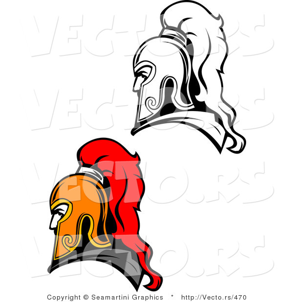 Vector of Roman Soldiers - Color and Line Drawing Versions