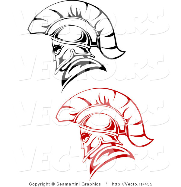 Vector of Roman Soldiers - Red and Black Version