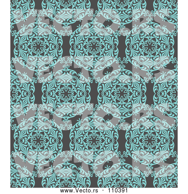 Vector of Turquoise Blue Circuolar Pattern over Gray