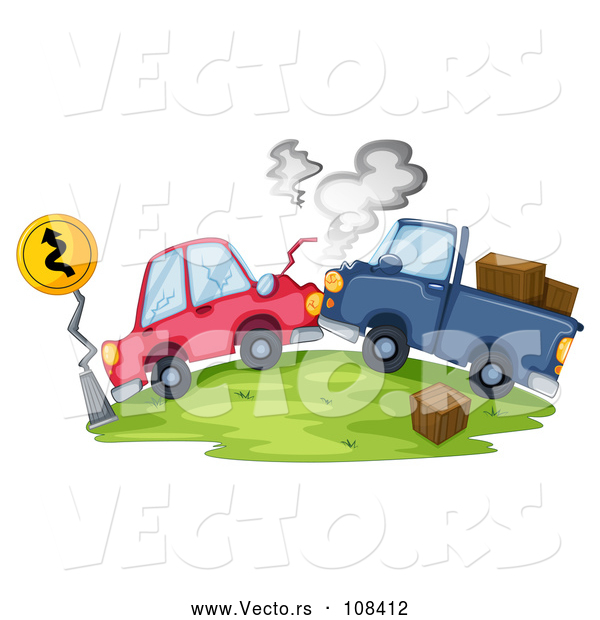 Vector of Vehicles After a Head on Collision Accident