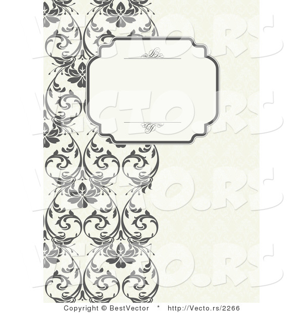 Vector of Vines Border with Blank Text Box