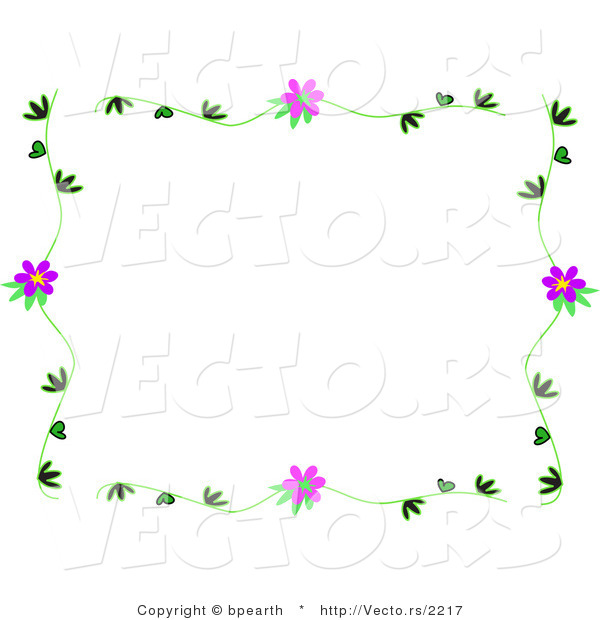 Vines Flowers Vector Vector of Vines With Purple