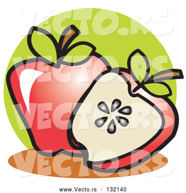 Vector of Whole Apple