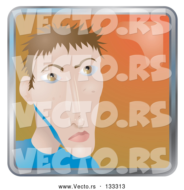 Vector of Young Skinny Guy