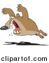 Cartoon Vector of a Bear Leaping by Toonaday