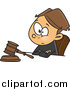 Cartoon Vector of a Boy Judge Sitting with a Gavel by Toonaday