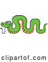 Cartoon Vector of a Green Snake Arched by Zooco