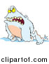 Cartoon Vector of a Grouchy Abominable Snowman by Toonaday