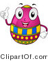 Cartoon Vector of a Happy Easter Egg Character Holding a Thumb up by BNP Design Studio