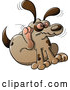 Cartoon Vector of a Itchy Dog Scratching with Rear Paw by Zooco