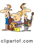Cartoon Vector of a Male Folk Music Band by Ron Leishman