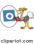 Cartoon Vector of a Ostrich Reading the Alphabet ABCs While Pronouncing the Letter 'O' by Toonaday