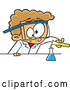 Cartoon Vector of Caucasian Boy Scientist Pouring Chemicals into a Beaker by Toonaday
