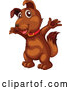 Cartoon Vector of Cute Happy Brown Dog by Graphics RF