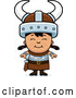 Cartoon Vector of Happy Asian Viking Girl by Cory Thoman