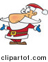Cartoon Vector of Happy Santa Welcoming with Open Arms by Toonaday