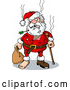Cartoon Vector of Injured Santa Ready to Recover by Holger Bogen
