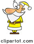 Cartoon Vector of Santa Waiting in a Yellow Suit by Toonaday