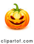 Vector of 3d Dewy Jackolantern Halloween Pumpkin by Oligo