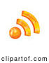 Vector of 3d Orange RSS App Icon by MilsiArt