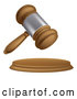 Vector of 3d Wooden and Silver Judge or Auction Gavel by AtStockIllustration