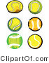 Vector of a 6 Unique Tennis Balls by Chromaco