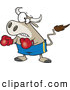 Vector of a Cartoon Bullfighter Bull Boxer Wearing Boxing Gloves by Toonaday
