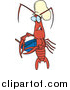 Vector of a Cartoon Chef Crawdad Holding a Mixing Bowl by Toonaday
