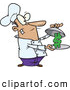 Vector of a Cartoon Chef Serving a Dollar Symbol by Ron Leishman