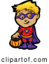 Vector of a Cartoon Kid in a Super Hero Costume by Chromaco