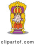 Vector of a Cartoon King Seated at His Throne by Andy Nortnik