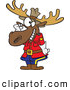 Vector of a Cartoon Mountie Moose Saluting by Ron Leishman