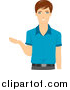 Vector of a Caucasian Male Teacher Gesturing with His Hand by BNP Design Studio