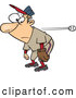 Vector of a Clueless Cartoon Baseball Player with a Glove Standing Still While Watching the Ball Pass by Him by Toonaday