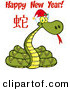 Vector of a Coiled New Year 2013 Cartoon Snake by Hit Toon