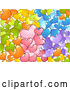 Vector of a Colorful Doodled Love Hearts Seamless Background by BNP Design Studio