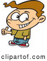 Vector of a Confident Cartoon Boy Giving Thumbs up Hand Gesture While Smiling by Ron Leishman