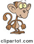 Vector of a Cute Brown Monkey Standing like Human - Cartoon Style by Toonaday