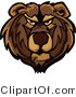 Vector of a Dominant Bear Mascot with Aggressive Look on His Face by Chromaco